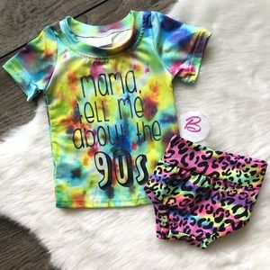 Other - Baby Girl Boutique 90's Outfit Set